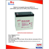 Bateria Recargable Genesis Np55-12 12v 55ah (nueva) Hm4