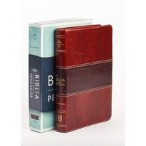 Biblia Del Pescador Caoba Simipiel De Lujo Reina Valera 1960