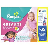 Pampers Easy Ups Training Pants Tamaño 4t5t Súper Paquete Ch
