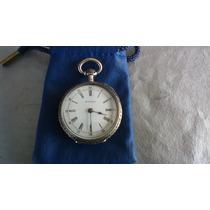 Reloj Longines De Bolsillo De Plata Especial