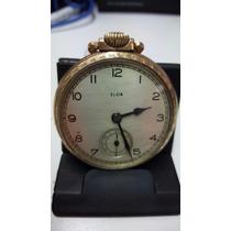 Reloj Elgin De Bolsillo Chapa De Oro Decuerda