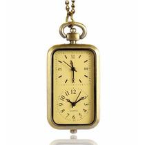 Reloj De Bolsillo Tipo Vintage Con Doble Capacidad Horaria