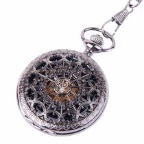 Reloj De Bolsillo De Cuerda Mecanico Estilo Gótico