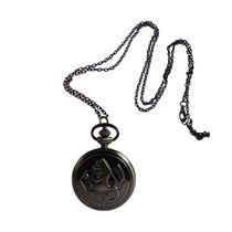 Full Metal Alchemist Fma Reloj De Bolsillo Grabado Obscured