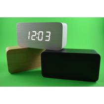 Reloj Despertador De Madera ¡¡buen Fin!! 20% De Descuento