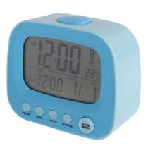 Reloj Digital Calendario Alarma Temperatura Luz De Noche Usb