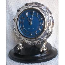Reloj De Mesa De Cristal Fabricado En La U.r.s.s.