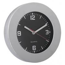 Reloj De Pared De Metal Cromado 22 Cm