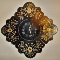 Reloj Antiguo De Pared - Espejo Adornos Dorados