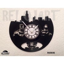 Reloj Batman Vs Superman En Disco De Vinil - Regalo Original