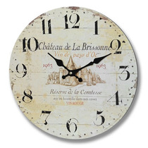 Reloj - Inicio Chateau De La Brisonne Pared Temático Francés