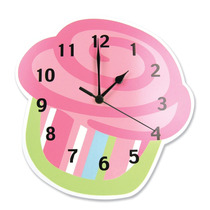 Reloj De Pared En Forma De Cup Cake Quequito Kekito Hm4