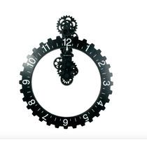 Reloj De Pared De Engranes Nuevo Mecanico De Metal