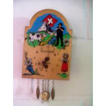 Antiguo Reloj Bucherer De Pared Hecho En Suiza - Vbf