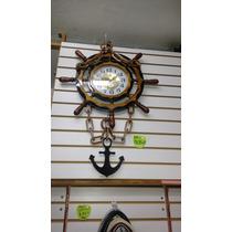 Reloj Grande Madera Modelo Ancla