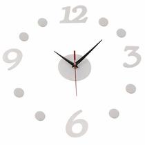 Reloj Blanco Minimalista De Pared Diy Personalizable H9024