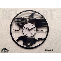 Original Reloj De Pared En Disco De Vinil - Ford Mustang