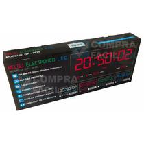 Reloj De Pared Led Digital Números Rojos Alta Visión - Cfmx