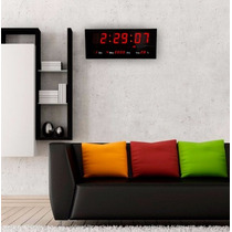 Reloj De Pared Led Digital Rojo Alta Visibilidad - Cfmx