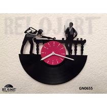 Reloj Billar Carambola En Disco De Vinil - Regalo Original
