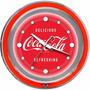 Reloj Pared Coca-cola Chrome Double Ring Neon