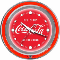 Reloj Pared Coca-cola Chrome Double Ring Neon
