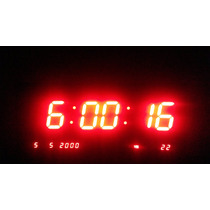 Reloj De Pared Verde Digital Muestra Anuncia Con Leds