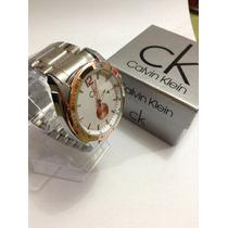 Reloj Calvin K, Acero, Con Fechador