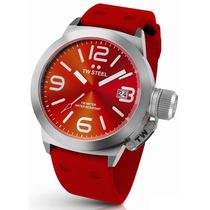 Tw Steel Canteen Rojo Acero Tw510, Garantia, Silicon, Hm4