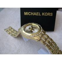 Excelente Reloj Michael Kors Elegante Oro Subasta 1 Peso