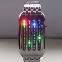 Reloj Matrix Colores Led Lujo Digital Binario Moderno Luz