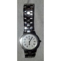 Givenchy Fino Reloj De Acero Inoxidable, Caratula Blanca.