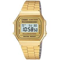 Reloj Casio Retro Vintage A168 Dorado