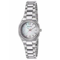 Reloj Bulova Diamond Gallery Acero Mujer Concha 96r199