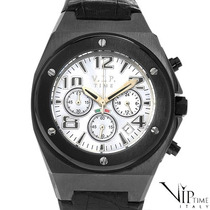 Reloj Vip Time Italy, Hombre, Crono, Acero Y Piel 1 Vmj