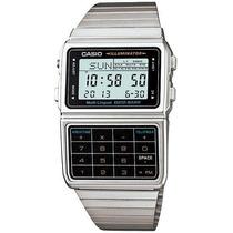Reloj Casio Retro Dbc 611 Plateado Data Bank 25 Memorias Luz