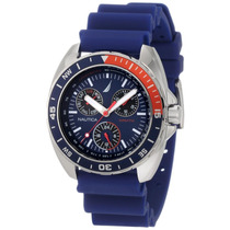 Reloj Hombre Nautica N07578g Sport Ring Blue And Red Op4