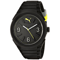 Reloj Puma Caballero Gummy Big Cat Negro 100% Original