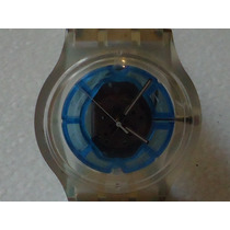 Reloj Swatch Blue Skeleton De Colección Impecable