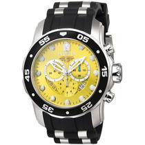 Reloj Invicta Pro Diver Cronógrafo Acero Negro, Caucho 6978