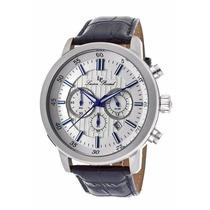 Reloj Lucien Piccard Monteviso Acero Piel Azul 12011-023s-bl
