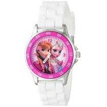 Reloj Frozen, Elsa Y Ana, Original Disney-estuche Metálico