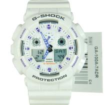 Reloj Blanco Casio G-shock Velocity Ga-100a-7 Nuevo En Caja