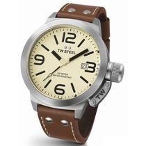 Reloj Tw Steel Ceo Cafe Tw21, Piel, 50mm Acero, Garantia