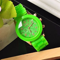 Reloj De Moda Para Dama Color Silicon Oferta
