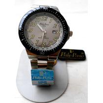 Reloj Philip Persio Caballero Buzo Contra Agua Acero Oferta