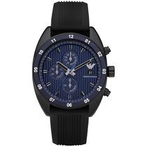 Reloj Emporio Armani Sport Silicon Negro Azul Ar5930