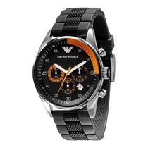 Reloj Emporio Armani Cronógrafo Acero Silicon Negro Ar5878
