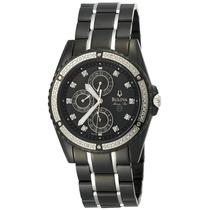 Reloj Bulova Marine Star, Acero Negro, Nacar,garantia 98e003