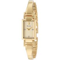 Reloj Pulsera Mujer Dama Bulova 97p104 Original Dorado